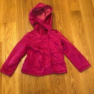 Pink Jacket w/ Detachable Hood GapKids Size 4-5